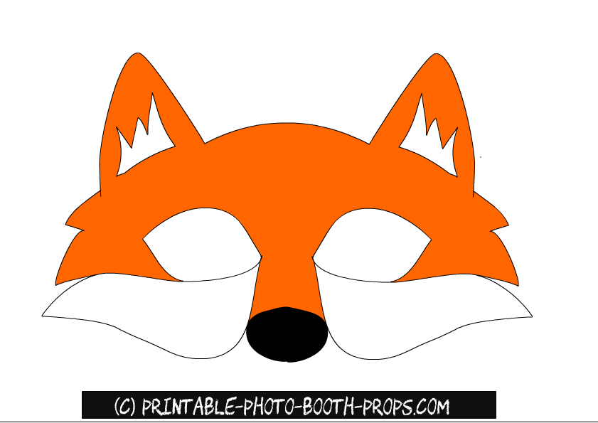 Free Printable Fox Prop Or Mask For Photo Booth