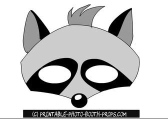 Free Printable Raccoon Photo Booth Prop