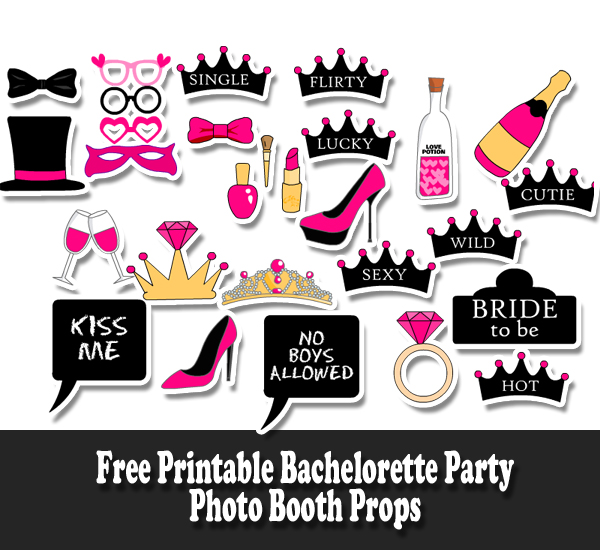Free Printable Bachelorette Party Photo Booth Props