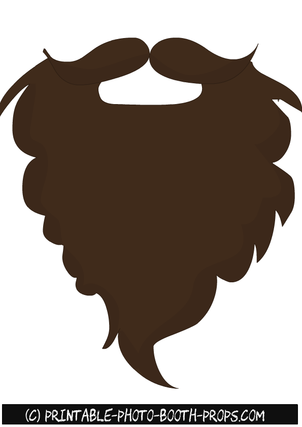 Free Printable Beards Photo Booth Props