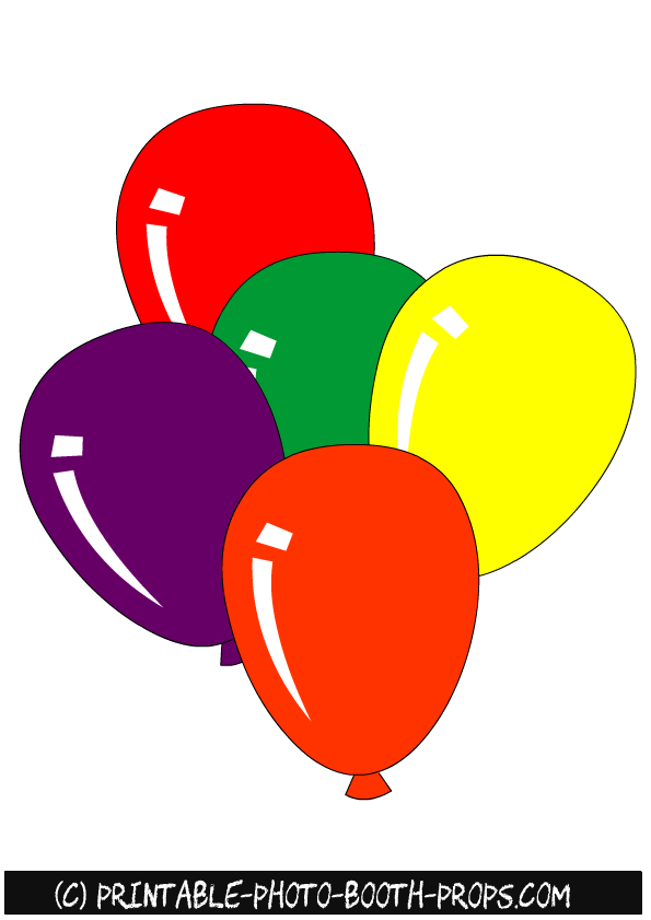 Dynamic image in balloons printable