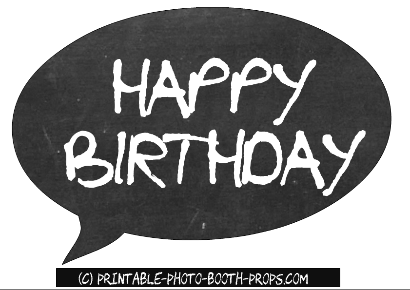 It is a graphic of Inventive Free Printable Photo Booth Props Birthday