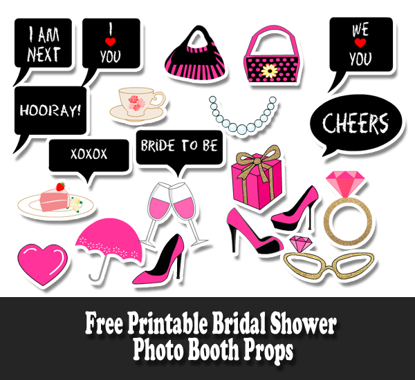 Free Printable Bridal Shower Photo Booth Props