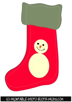 Christmas Stockings Prop Printable
