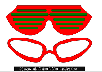Printable Christmas Glasses Photo Booth Props