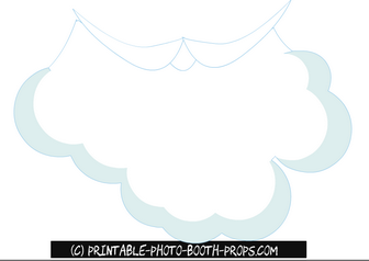 Santa Beard Prop Printable