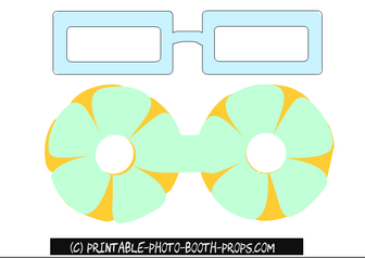Light Blue Easter Glasses