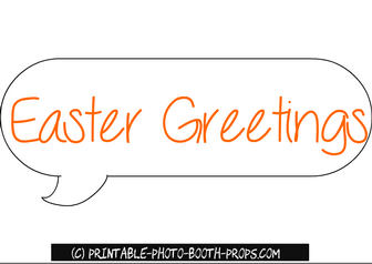 Free Printable Easter Greetings Photo Booth Prop