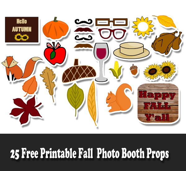 25 Free Printable Fall Photo Booth Props