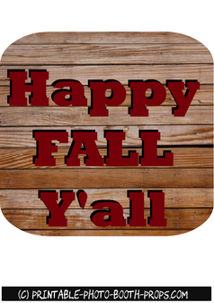 Happy Fall Y'all Sign