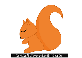 Printable Squirrel Prop