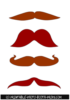 Free Printable Brown Moustaches Props