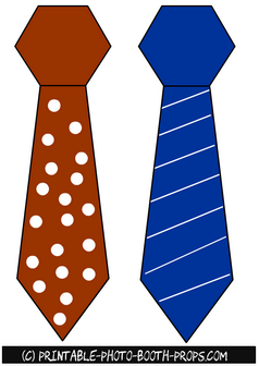 Free Printable Neck Ties Props for Father's Day
