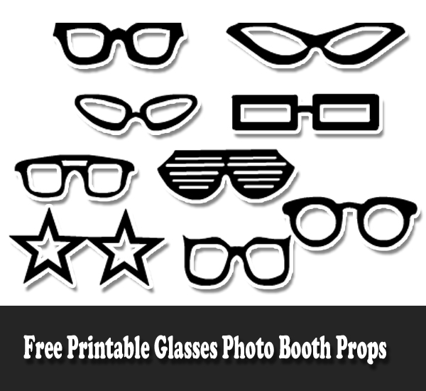 Free Printable Glasses Photo Booth Props