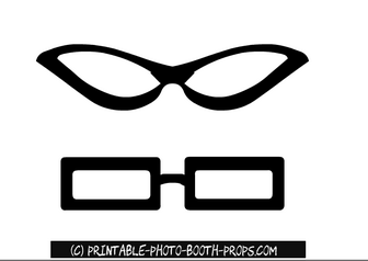 Oval and Rectangular Glasses Photo Booth Props
