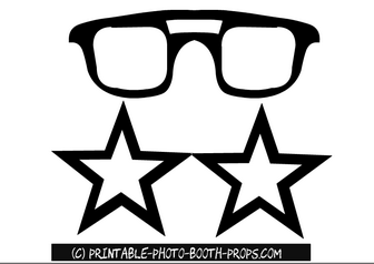 Classic and Star Shaped Glasses Props