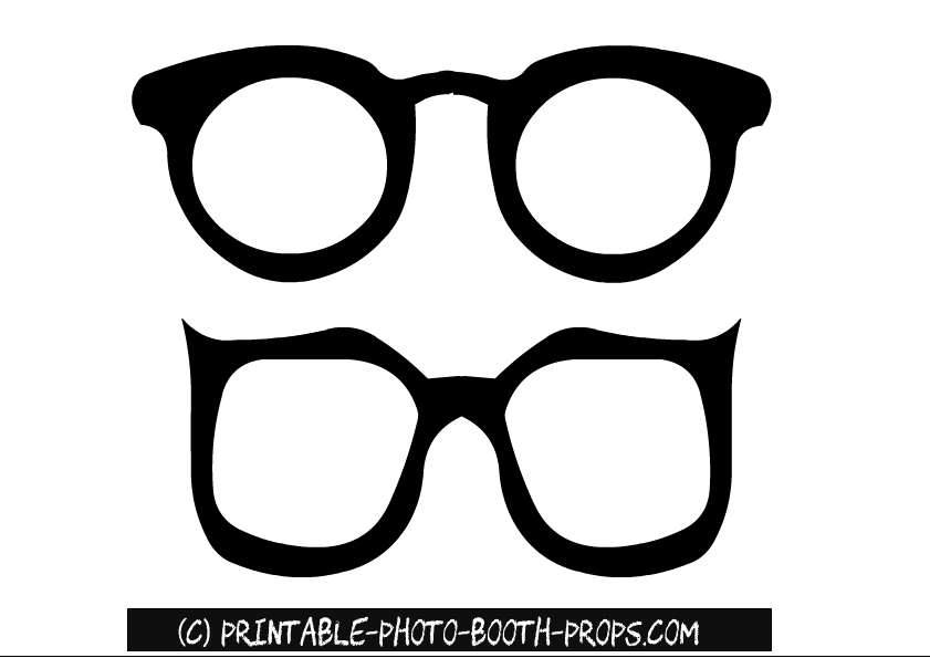 templates for photo booth props - free printable glasses photo booth props