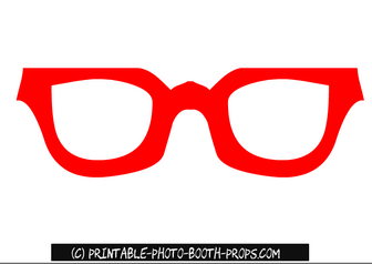 Red Glasses Prop Printable