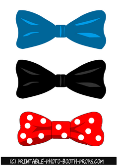 Free Printable Bow Ties Graduation Party Props