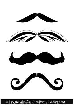 Free Printable Moustaches Photo Booth Props