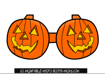 Free Printable Pumpkin Glasses Prop for Halloween