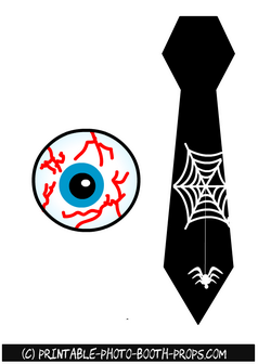 Free Printable Eye Ball and Neck Tie Props