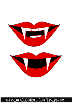 Free Printable Vampire Mouth Photo Booth Prop