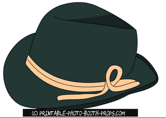 Mountain Fedora Free Prop Printable