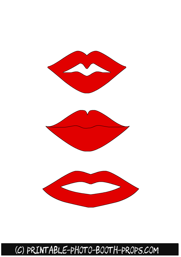Free Printable Lips Photo Booth Props