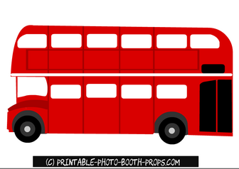 Free Printable London Bus Photo Booth Prop