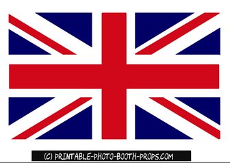 Union Jack Photo Booth Prop Printable