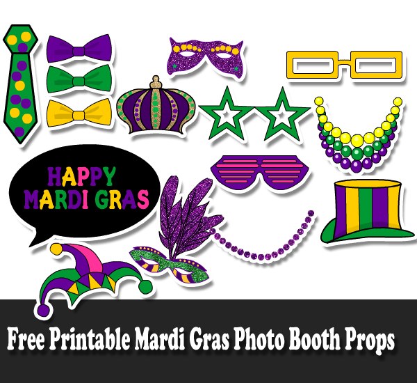 Free Printable Mardi Gras Photo Booth props