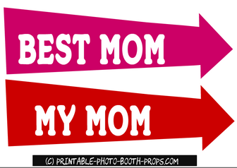 Free Printable Best Mom and My Mom Props