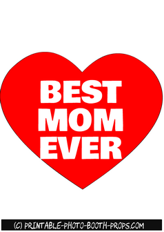 Free Printable Best Mom Ever Photo Booth Prop