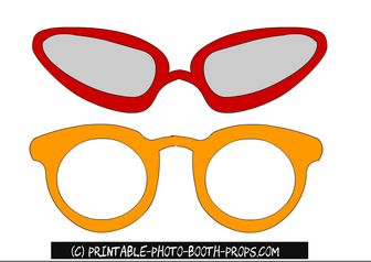 Free Printable Cool Glasses Photo Booth Props