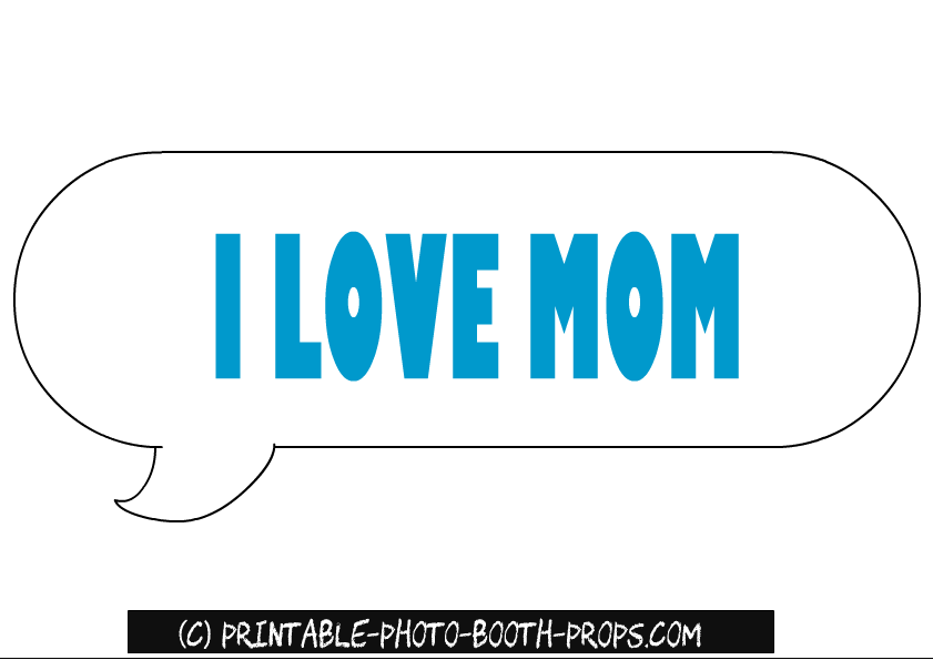photo booth speech bubble template - free printable mother 39 s day photo booth props
