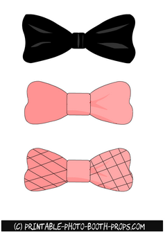 Bow Ties Props for Paris themed Photo Booth