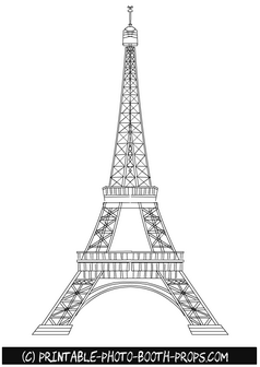 Free Printable Eifel Tower Photo Booth Prop