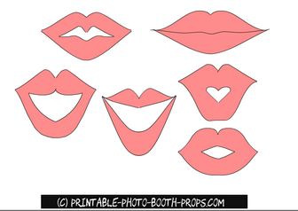 Free Printable Lips Photo Booth Prop