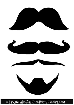 Free Printable French Moustaches and French Beard Prop