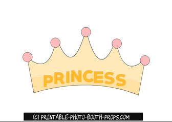 Free Printable Princess Crown Photo Booth Prop