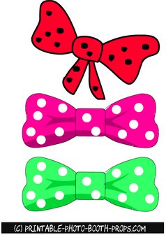 Free Printable Bow Ties Props