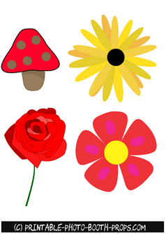 Spring Flowers and Rose Props Printables