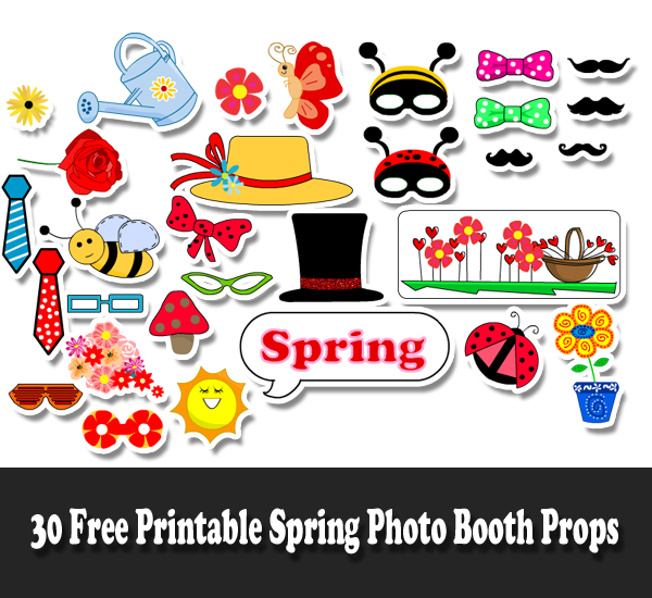 Free Printable Spring Photo Booth Props