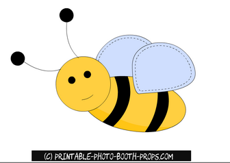 Free Printable Honey Bee Prop