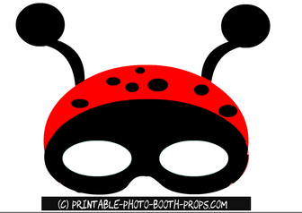 Free Printable Lady Bug Mask