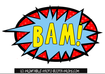 Bam Prop Printable For Photo Booth