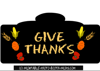 Free Printable Give Thanks Sign
