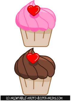 Cupcake Props for Valentine's Day