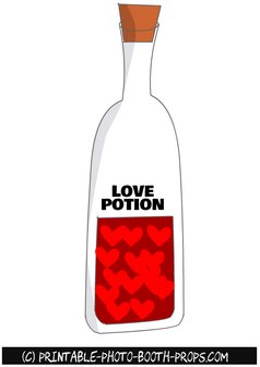 Red Love Potion Prop